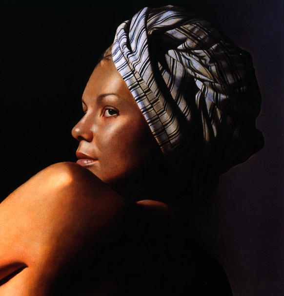 TOBY BOOTHMAN * KATIA WITH TURBAN * Oil on Canvas 51x51