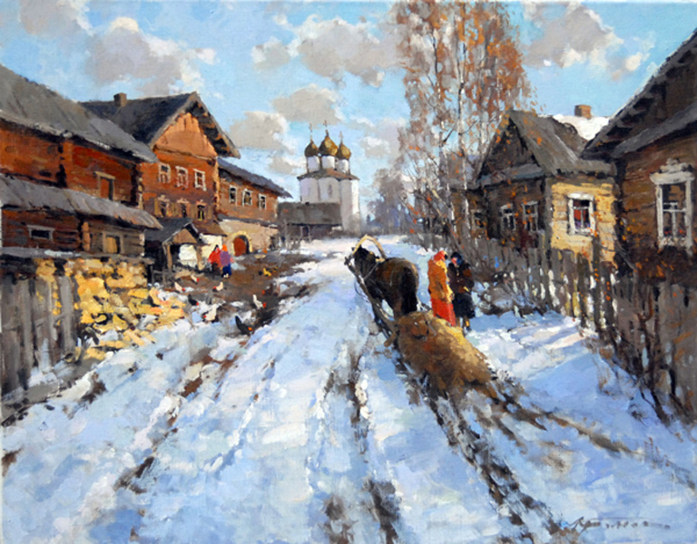 ALEXANDER KREMER * OLD LADOGA * Oil on Canvas 70x90