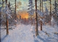ALEXANDER KREMER * WINTER IN FOREST * Oil on Canvas 60x80
