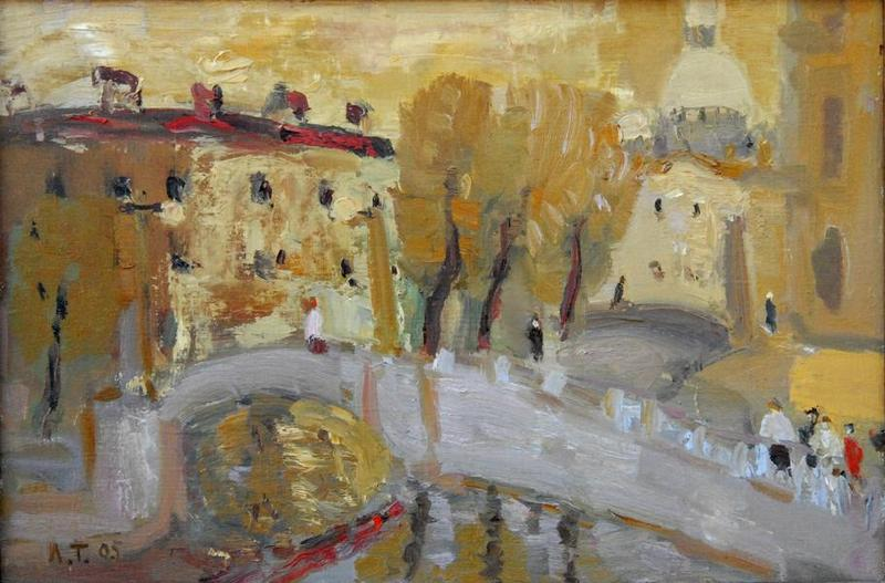 LARISA TAMASHEVICH * GOLD * Oil on Canvas 40x60